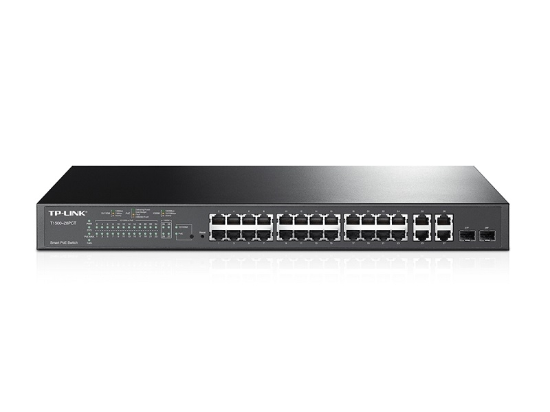TL-SL2428P Switch Smart PoE+, 24 porty 10/100 Mb/s + 4 porty 10/100/1000Mb/s